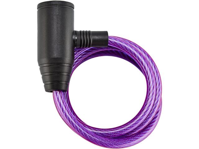 Axa Zipp Antivol à câble spiralé Ø8mm 120cm, purple